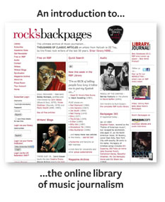 An introduction to the online library of music journalism