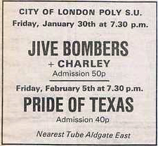Jive Bombers (UK), The